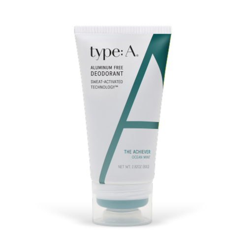 Type:A The Achiever Ocean Mint Aluminum Free Deodorant Perspective: front