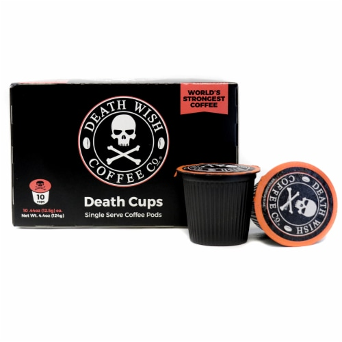 Death Wish Coffee Death Cups Single-Serve Coffee Pods Perspective: front