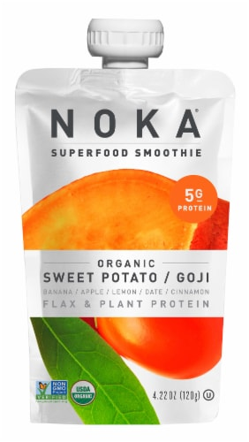 NOKA Organic Sweet Potato & Goji Superfood Smoothie Perspective: front