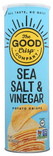 The Good Crisp Company Sea Salt & Vinegar Potato Crisps Perspective: front