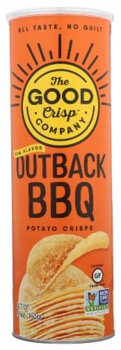 The Good Crisp Company Outback BBQ Potato Crisps Perspective: front