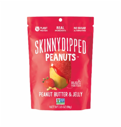 Skinnydipped Peanuts™ Peanut Butter and Jelly Snack Perspective: front