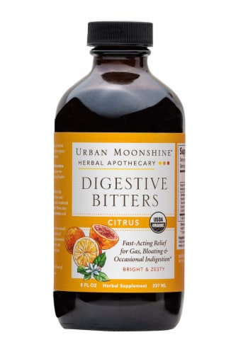 Urban Moonshine Organic Citrus Digestive Bitters Perspective: front