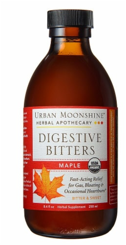 Urban Moonshine  Organic Bitters Gluten Free   Maple Perspective: front