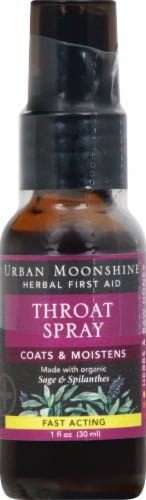 Urban Moonshine Throat Spray Sage And Spilanthes Perspective: front