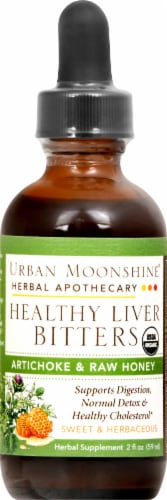 Urban Moonshine Organic Healthy Liver Bitters Perspective: front