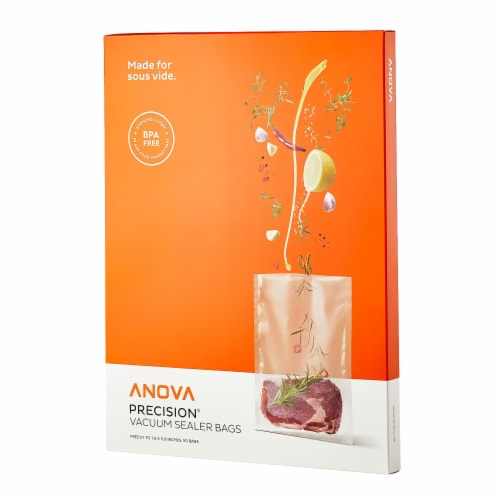 Anova Culinary Vacuum Sealer Pre Cut Bags Perspective: front