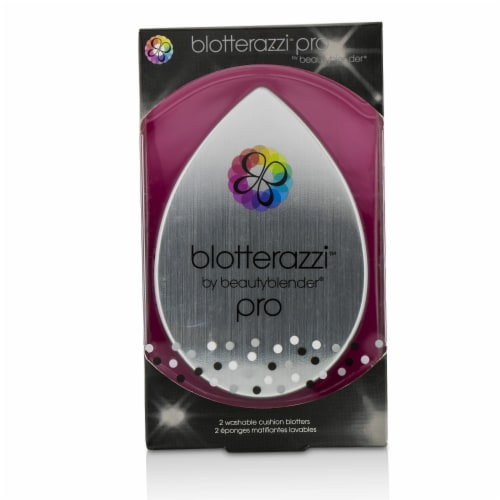 BeautyBlender Blotterazzi (2x Washable Oil Blotting Sponges)  Pro (Black) 2pcs Perspective: front