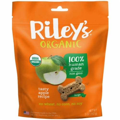 Riley's Organic Dog Biscuits Large - Apple Perspective: front