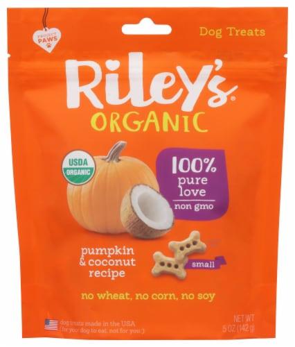 Riley's Organic Pumpkin & Coconut Recipe Dog Treats Perspective: front