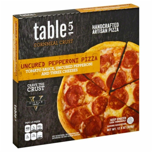 Table 5 Uncured Pepperoni Cornmeal Pizza Perspective: front