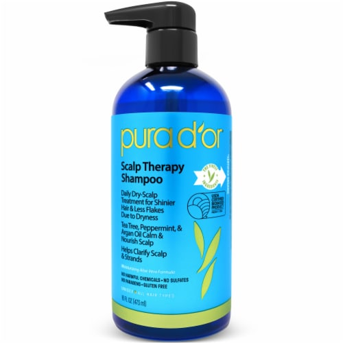 Pura D'or Scalp Therapy Shampoo Perspective: front