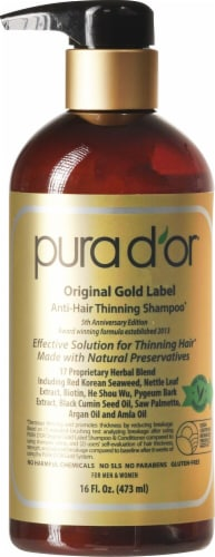 Pura D'or  Anti-Hair Thinning Shampoo Perspective: front