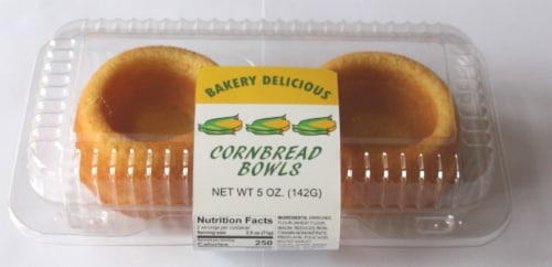 Bakery Delicious Cornbread Bowls 2 Count Perspective: front