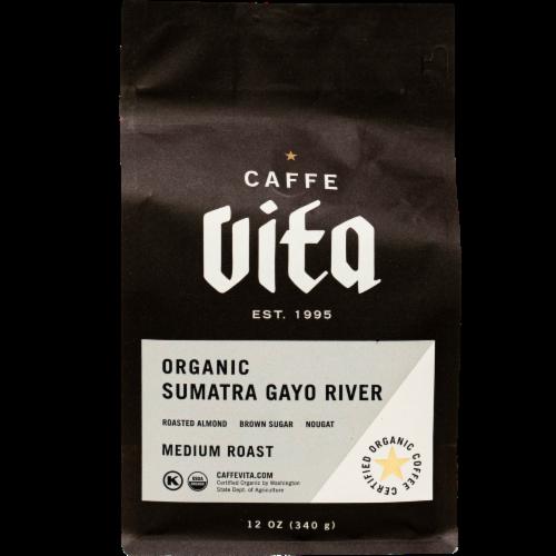 Caffe Vita Organic Sumatra Gayo River Medium Roast Coffee Perspective: front
