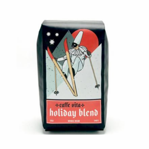 Caffe Vita Holiday Blend Whole Bean Coffee Perspective: front