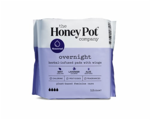 The Honey Pot Overnight Menstrual Pads Perspective: front