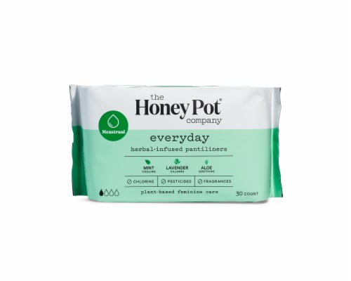 The Honey Pot Everyday Herbal Pantiliners Perspective: front