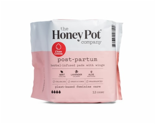 The Honey Pot Postpartum Herbal Infused Pads Perspective: front