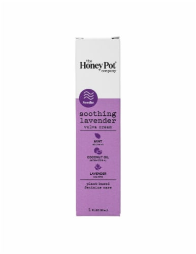 The Honey Pot Soothing Lavender Vulva Cream Perspective: front