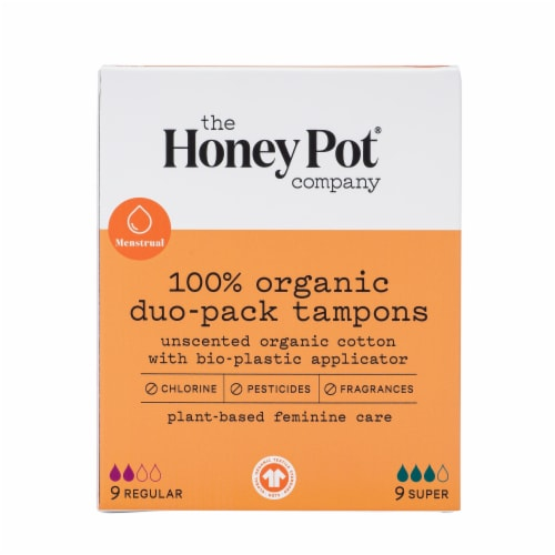 The Honey Pot 100% Organic Duo-Packs Tampons Perspective: front