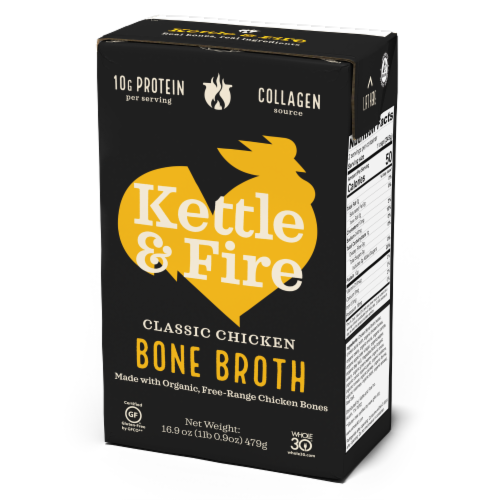 Kettle & Fire Classic Chicken Bone Broth Perspective: front