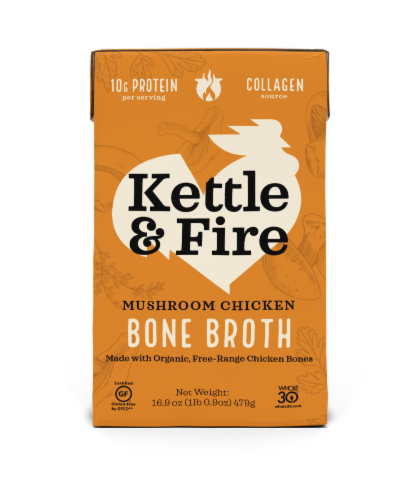 Kettle & Fire Mushroom Chicken Bone Broth Perspective: front