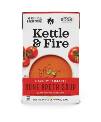 Kettle & Fire Tomato Bone Broth Soup Perspective: front