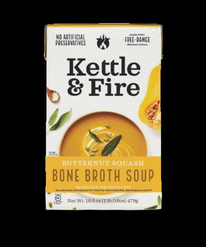 Kettle & Fire Gluten Free Butternut Squash Bone Broth Soup Perspective: front