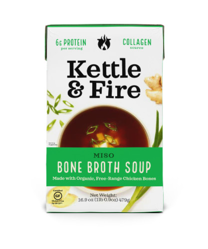 Kettle & Fire Miso Bone Broth Soup Perspective: front