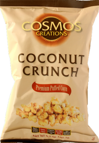 Cosmos Creations Coconut Crunch Puffed Corn Perspective: front
