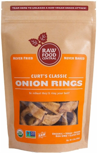 Raw Food Central  Organic Onion Rings Gluten Free   Curt's Classic Perspective: front