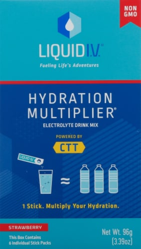 Liquid I.V. Hydration Multiplier Strawberry Electrolyte Drink Mix Perspective: front