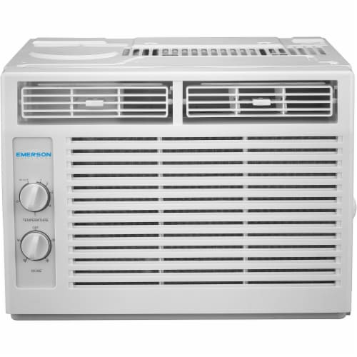 Emerson Quiet 5000 BTU 115V Window Air Conditioner with Mechanical Rotary Controls Perspective: front