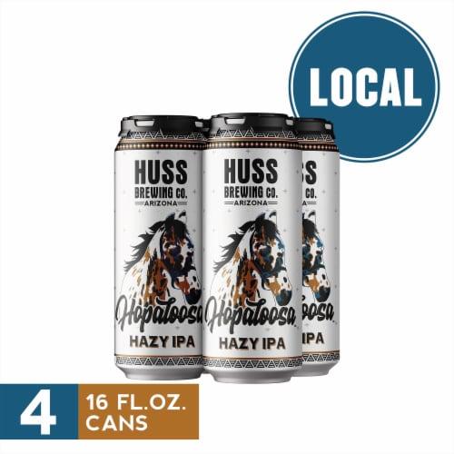Huss Brewing Co. Hopaloosa Hazy IPA Perspective: front