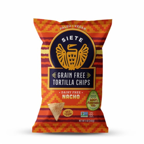 Siete Nacho Grain Free Tortilla Chips Perspective: front