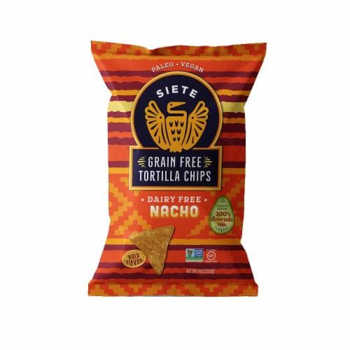 Siete Nacho Grain Free Tortilla Chips Perspective: front