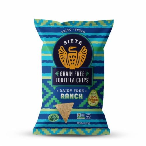 Siete Ranch Grain Free Tortilla Chips Perspective: front