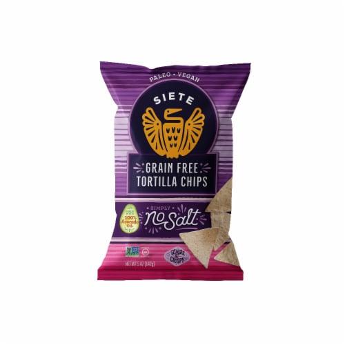 Siete No Salt Grain Free Tortilla Chips Perspective: front