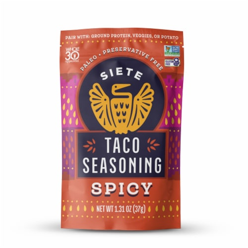 Siete Spicy Taco Seasoning Perspective: front