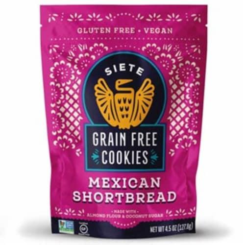 Siete Grain Free Mexican Shortbread Cookies Perspective: front