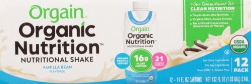 Orgain Organic Vegan Vanilla Bean Nutritional Shake Perspective: front