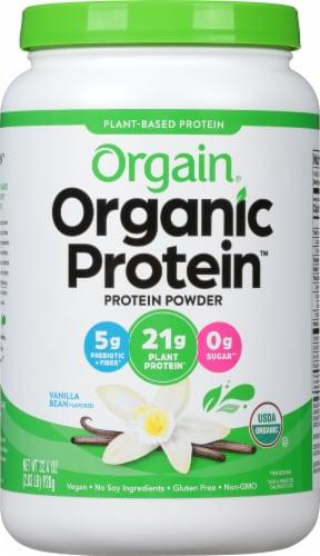 Orgain Organic Vanilla Bean Protein Powder Perspective: front
