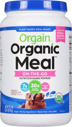 Orgain  Organic Meal™ All-In-One Nutrition Powder   Creamy Chocolate Fudge Perspective: front