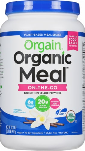 Orgain  Organic Meal™ All-In-One Nutrition Powder   Vanilla Bean Perspective: front