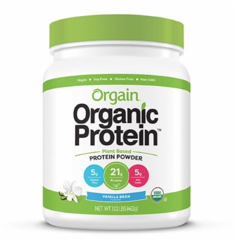 Orgain Organic Vanilla Bean Flavor Protein Plant-Based Powder Perspective: front