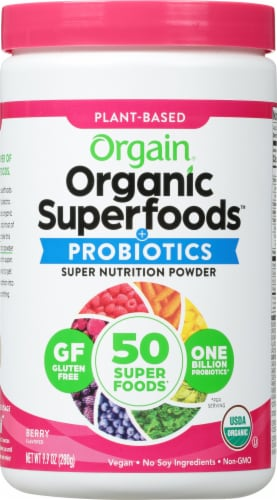 Orgain Organic Superfoods™ All-In-One Super Berry Flavored Nutrition Powder Perspective: front