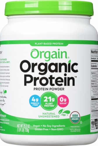 Orgain  Organic Protein™ Plant Based Powder   Natural Unsweetened Perspective: front