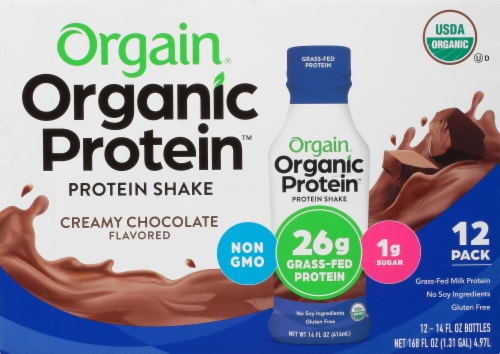 Orgain  Organic Protein™ Nutritional Protein Shake   Creamy Chocolate Perspective: front