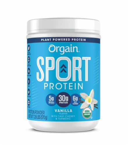 Orgain Vanilla Sport Powdered Plant Protein Perspective: front